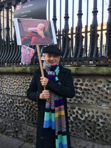 22 Ocak 2017'de Londra'daki Kadın Yürüyüşü sırasında