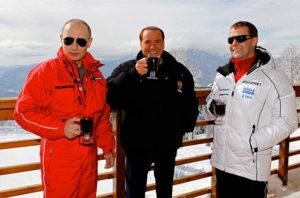 Dmitry Medvedev, Vladimir Putin, Silvio Berlusconi